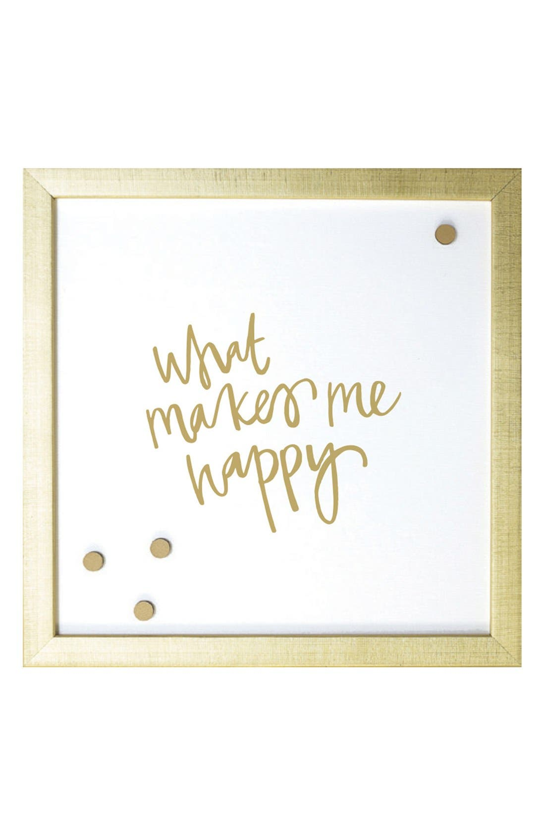 Petal Lane 'What Makes Me Happy' Magnet Board,                             Main thumbnail 1, color,                             Gold