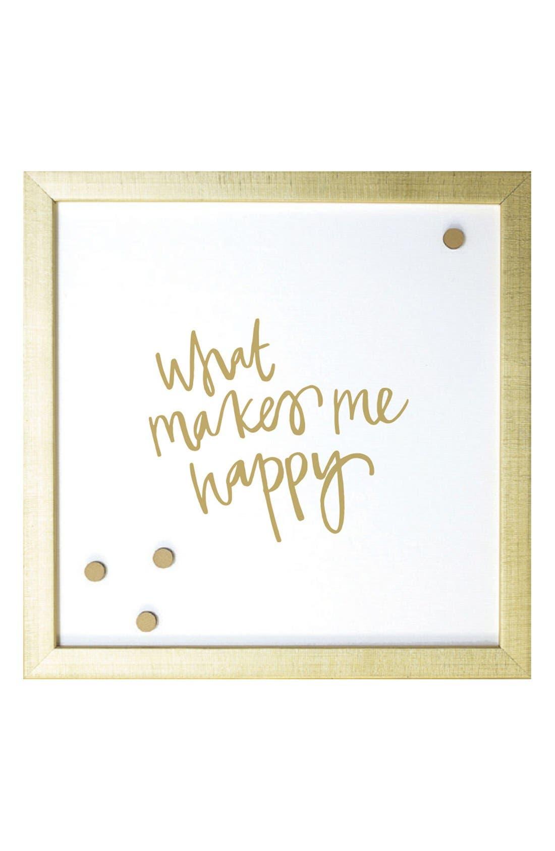 Petal Lane 'What Makes Me Happy' Magnet Board,                         Main,                         color, Gold