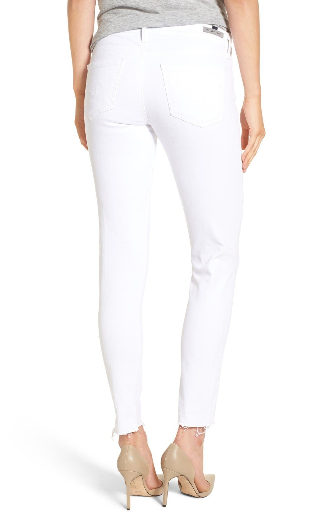 Alternate Image 2  - Citizens of Humanity Skinny Ankle Jeans (Optic White)