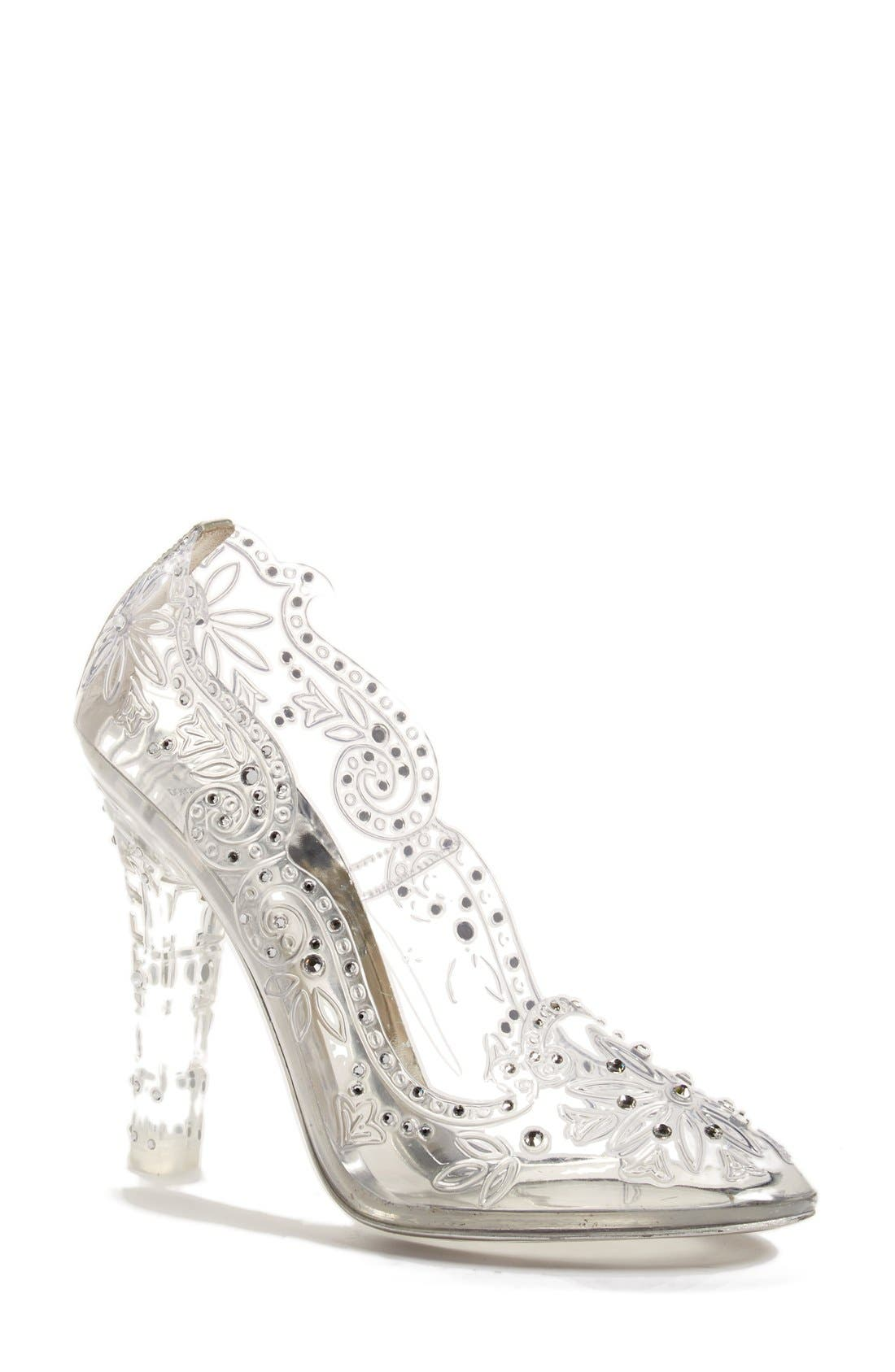 Alternate Image 1 Selected - Dolce&Gabbana 'Glass Slipper' Pump (Women)
