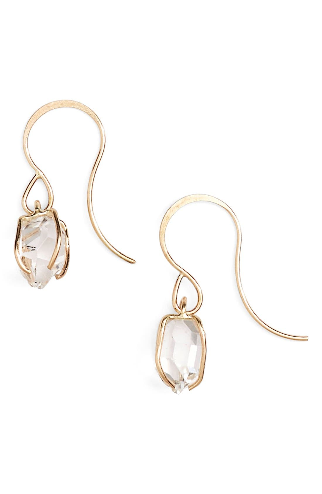 MELISSA JOY MANNING Herkimer Diamond Drop Earrings