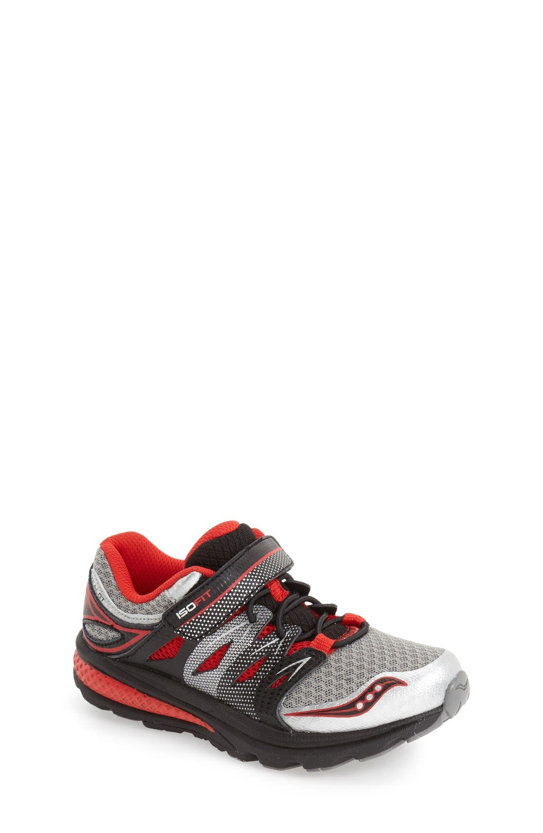 'Zealot 2 AC' Running Shoe,                             Main thumbnail 1, color,                             Grey/ Red