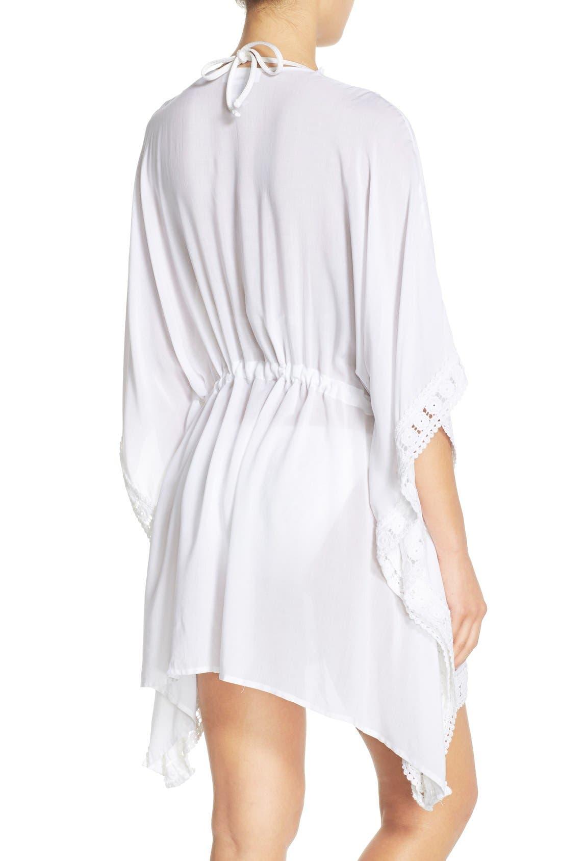 Alternate Image 2  - La Blanca 'Costa Brava' Crochet Cover-Up Kimono