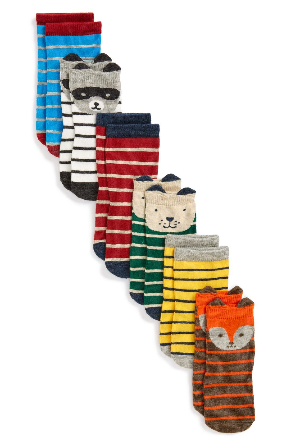 Tucker + Tate Print 6-Pack Crew Socks (Baby Boys)