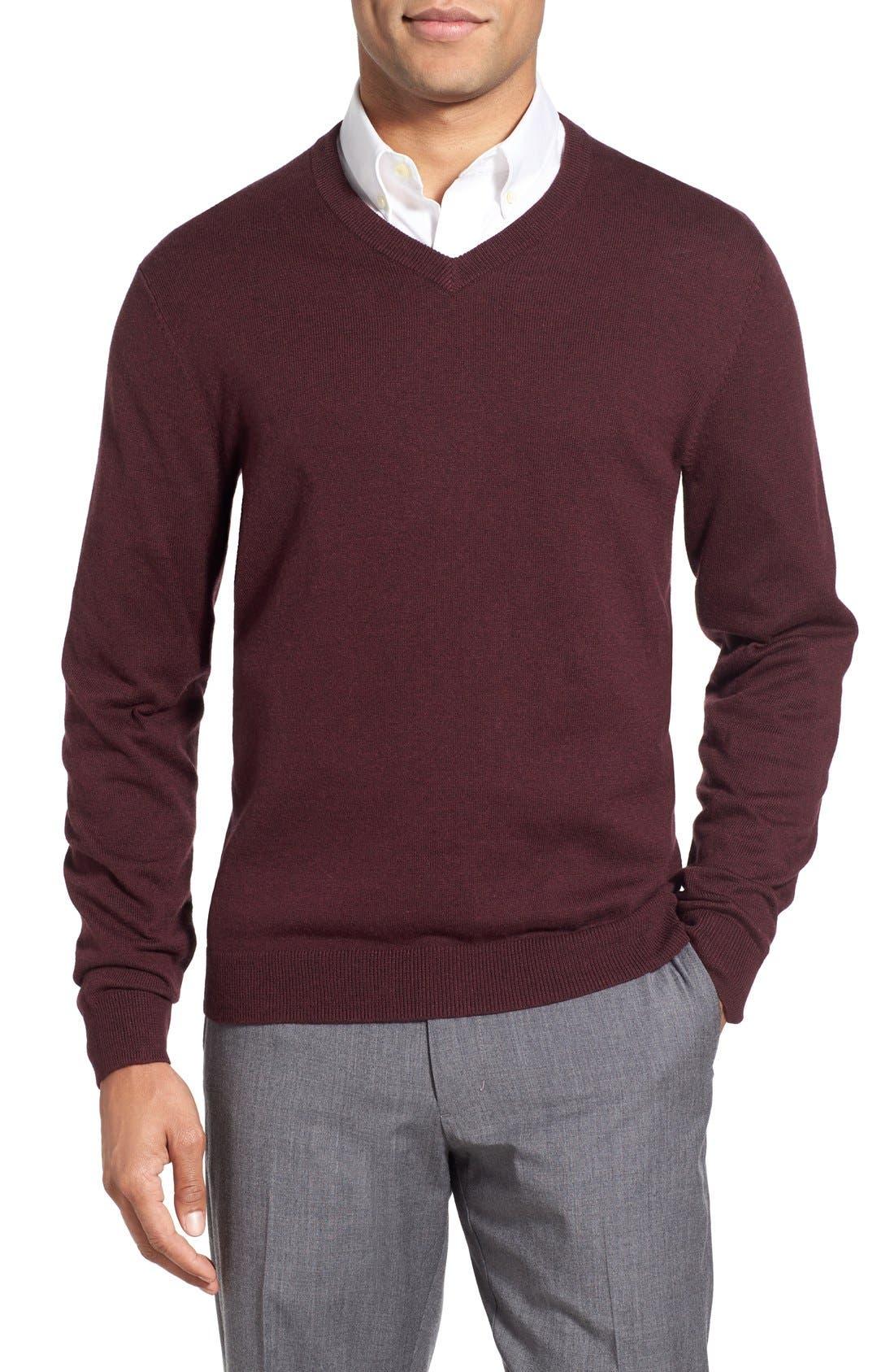 Nordstrom V-Neck Sweater (Big)