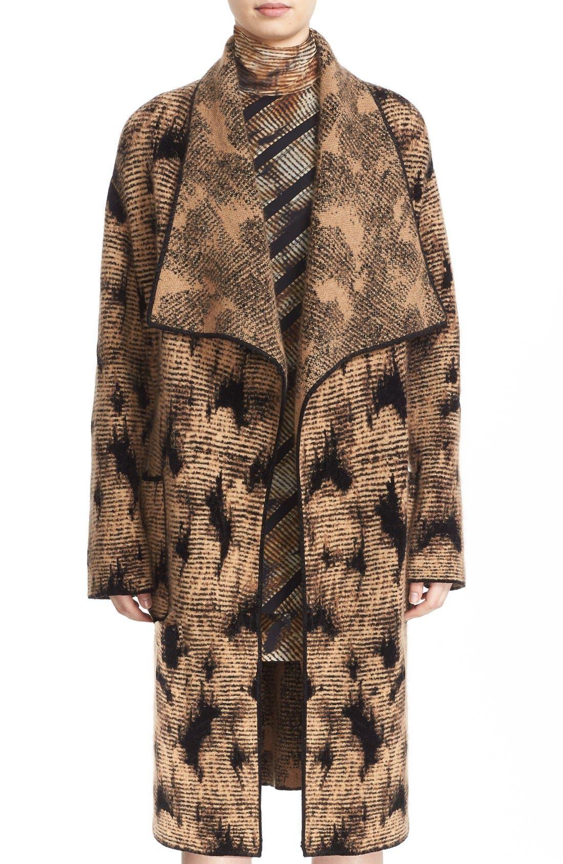 Alternate Image 1 Selected - Fuzzi Jacquard Knit Coat