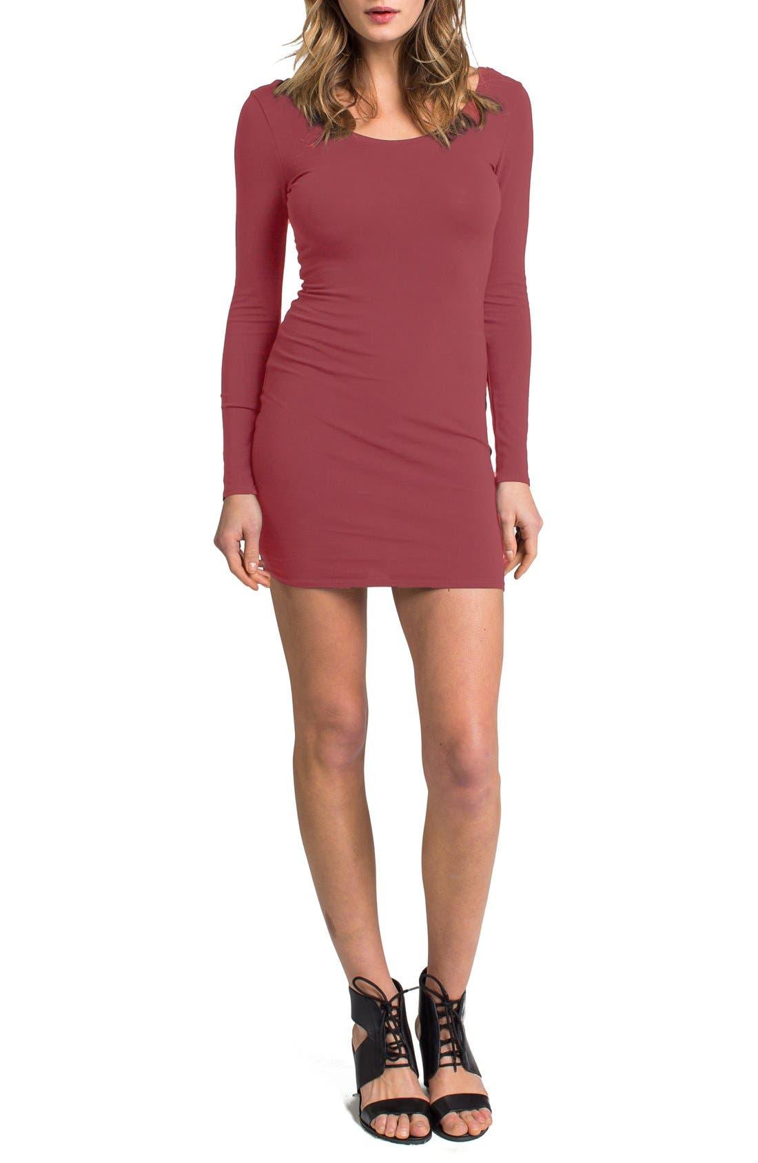 Alternate Image 1 Selected - LAmade Long Sleeve Knit Body-Con Dress