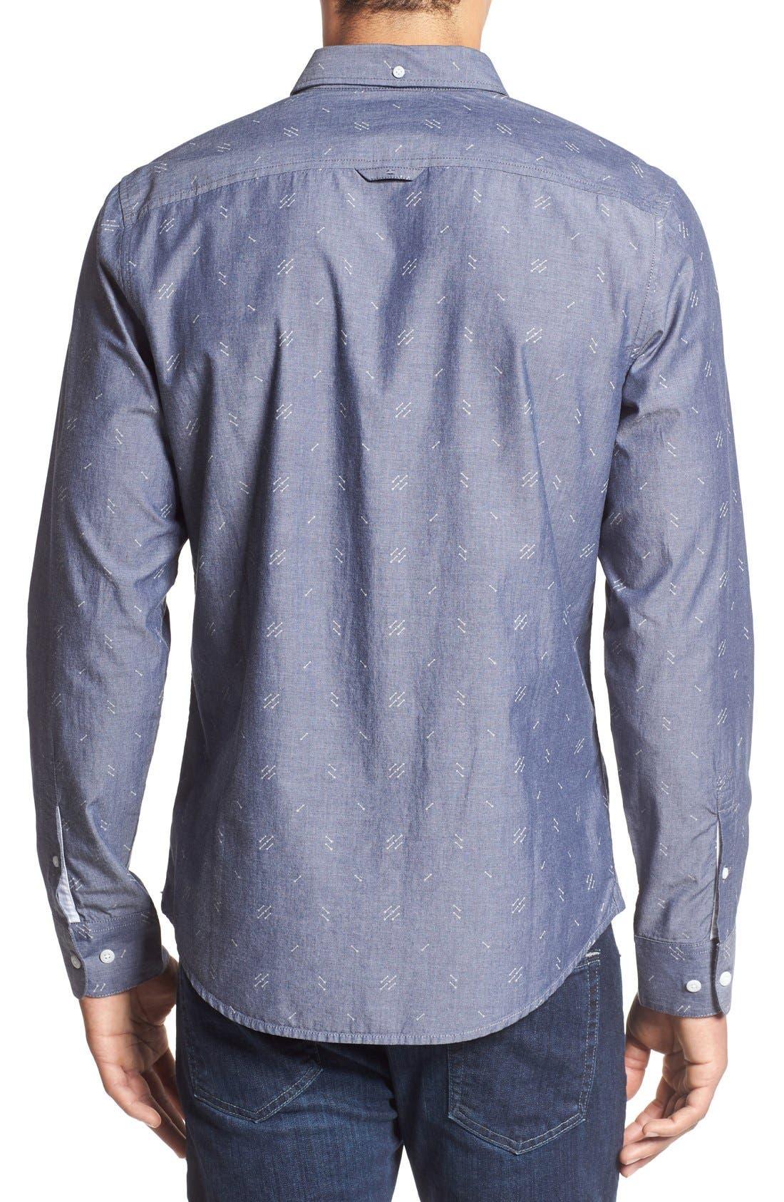 Alternate Image 2  - 1901 'Baker' Slim Fit Arrow Print Woven Shirt