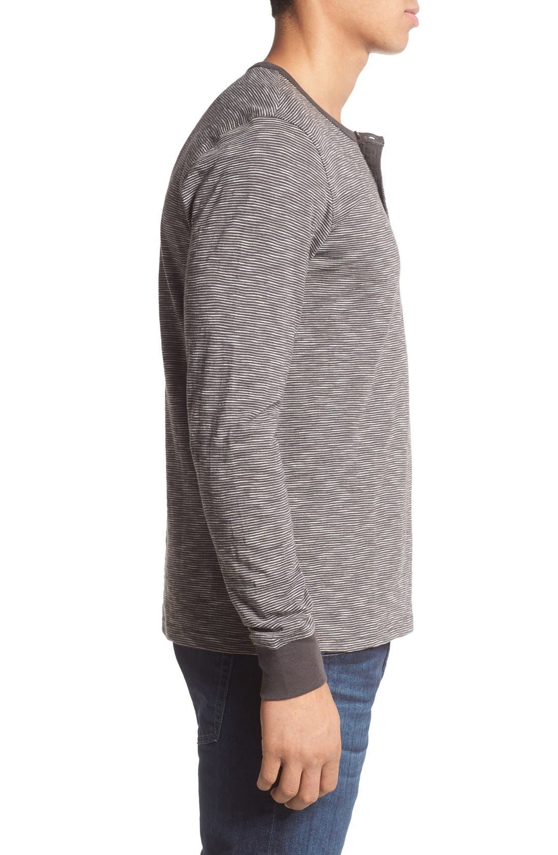 Alternate Image 3  - 1901 Thin Stripe Henley