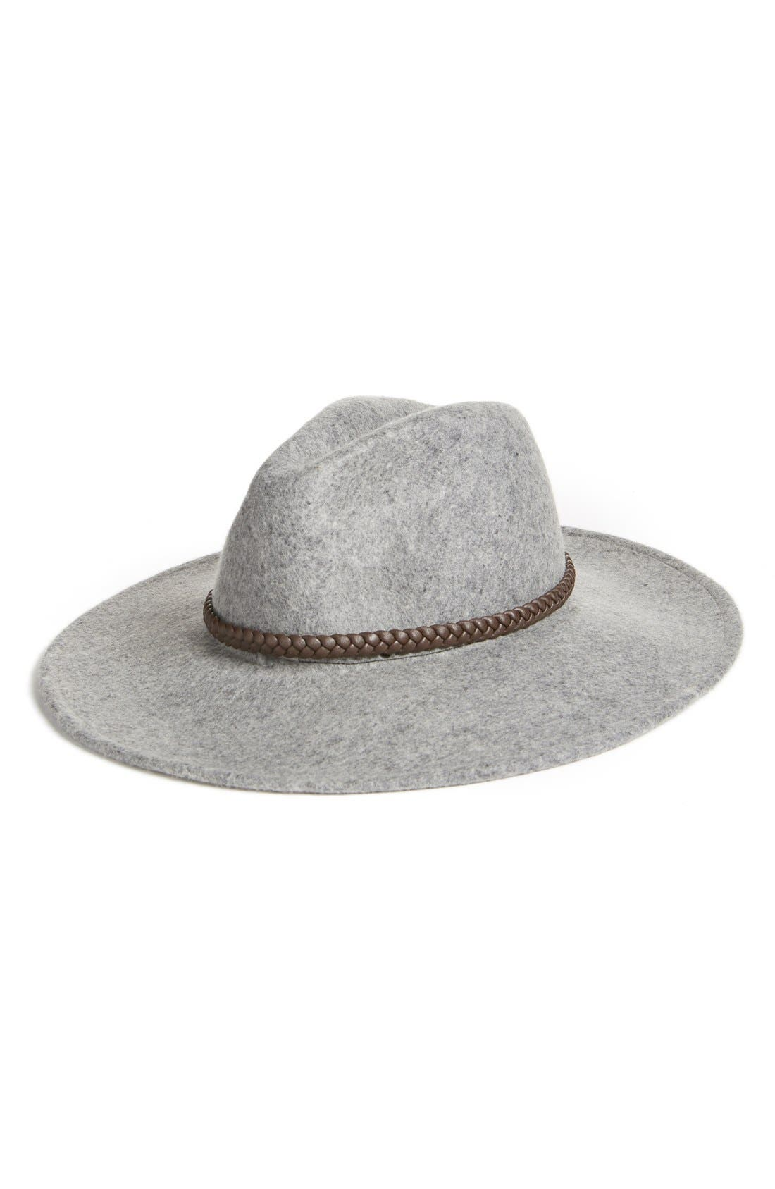 Alternate Image 1 Selected - Billabong Wool Hat with Braided Faux Leather Trim
