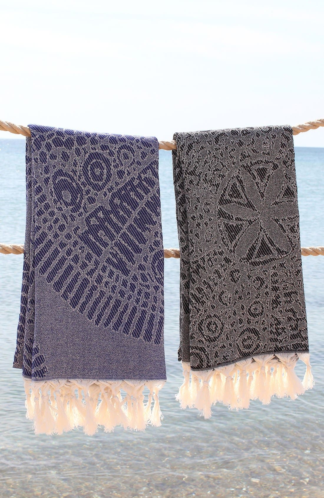 Anatolian Turkish Pestemal Beach Towel,                             Alternate thumbnail 6, color,
