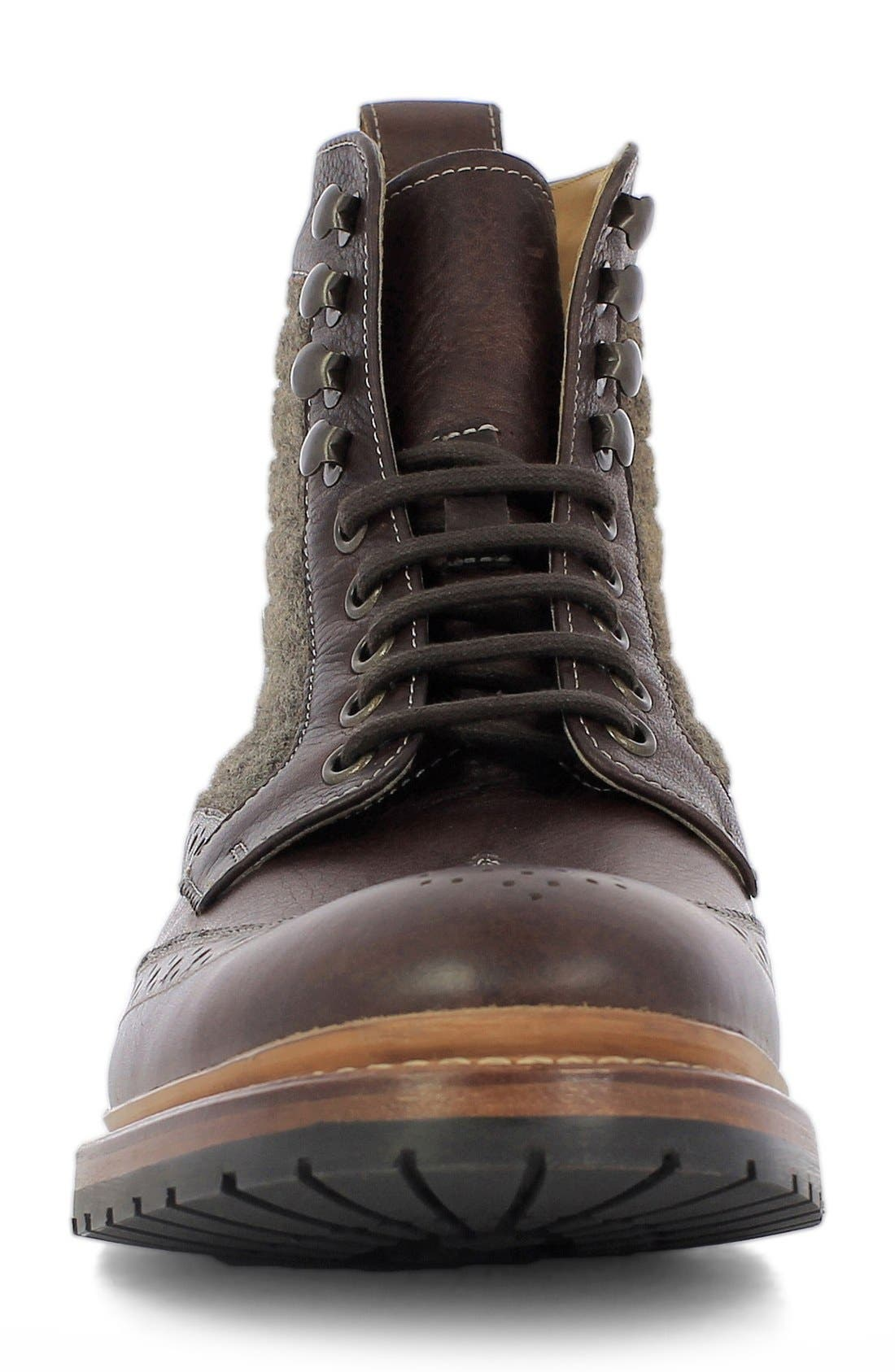 Madison II Wingtip Boot,                             Alternate thumbnail 3, color,                             Brown Multi