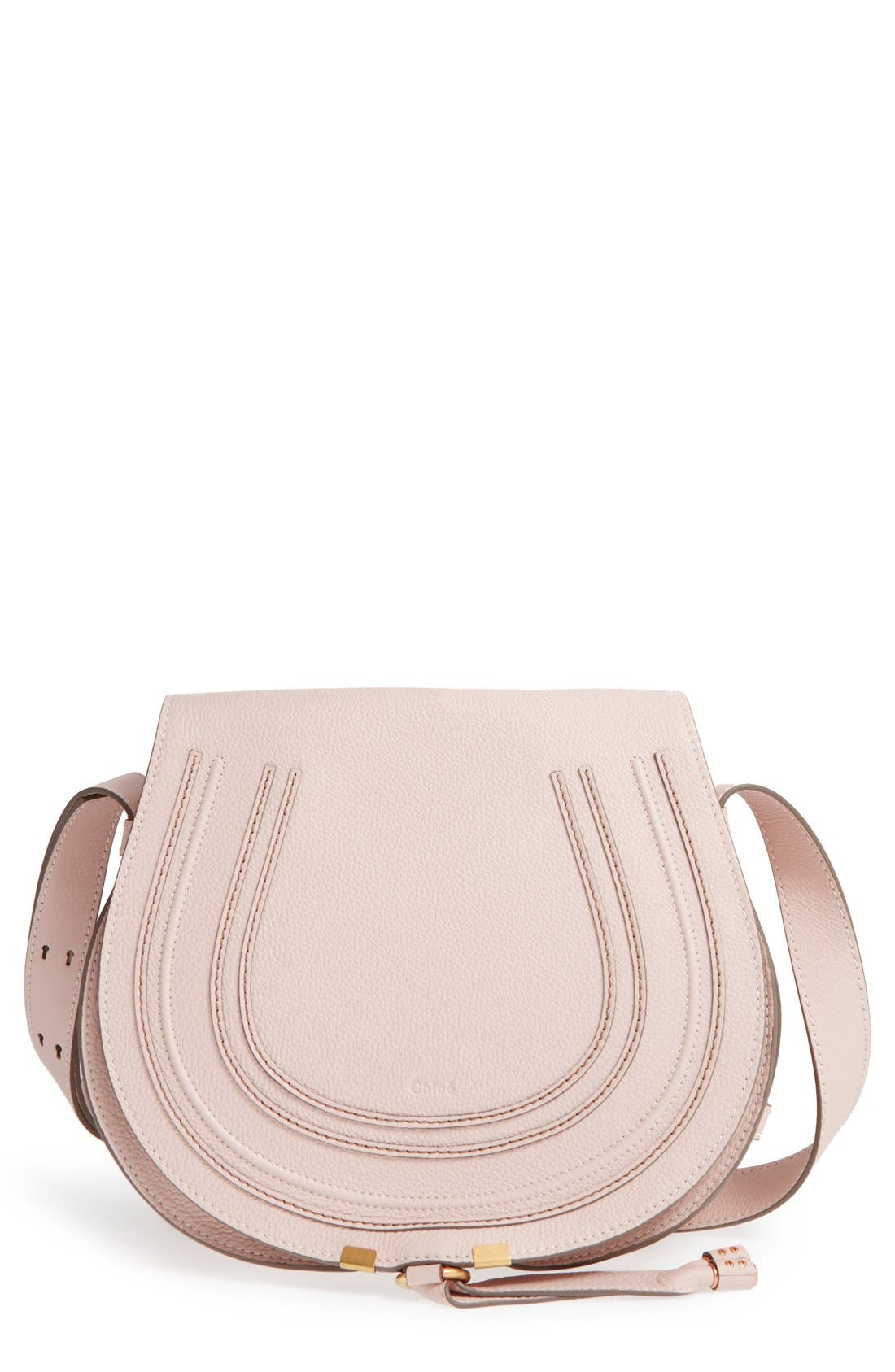 'Marcie - Medium' Leather Crossbody Bag,                             Main thumbnail 1, color,                             Abstract White
