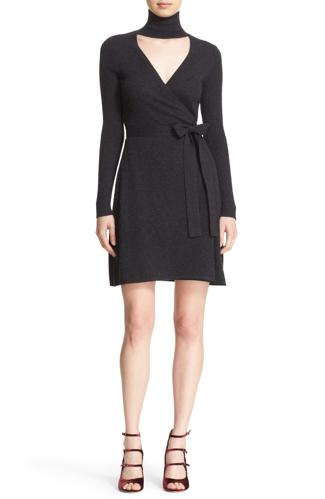 Alternate Image 1 Selected - Diane von Furstenberg 'Janeva' Wool & Cashmere Wrap Dress