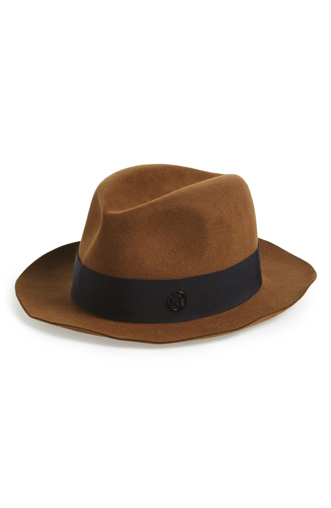 Joseph Fur Felt Hat,                             Main thumbnail 1, color,                             Camel