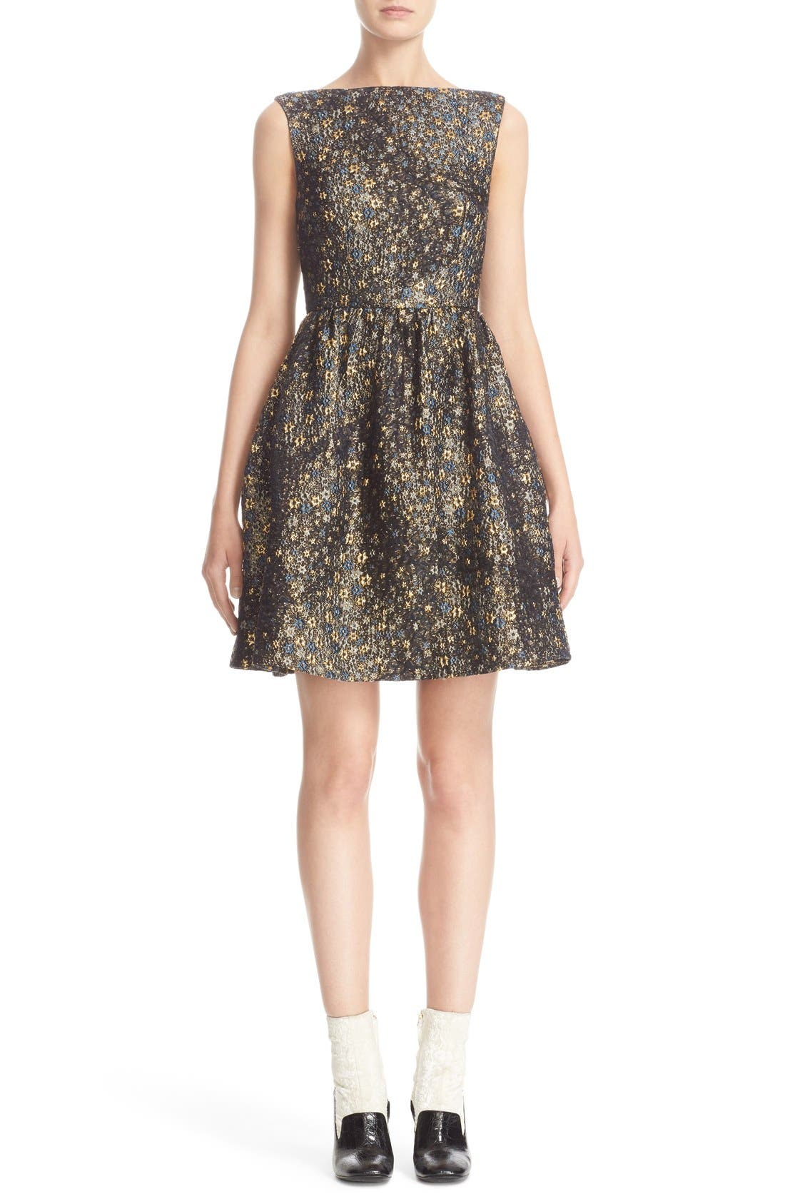 Main Image - Erdem Star Jacquard Fit & Flare Dress