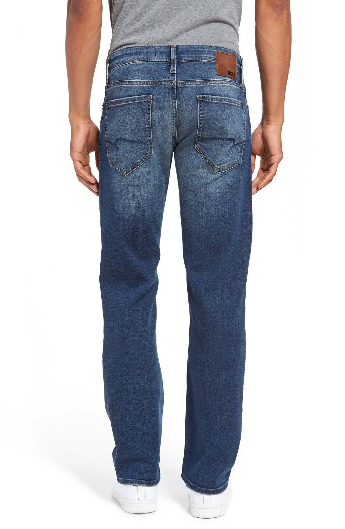 Alternate Image 2  - Mavi Jeans 'Zach' Straight Leg Jeans (Mid Blue)