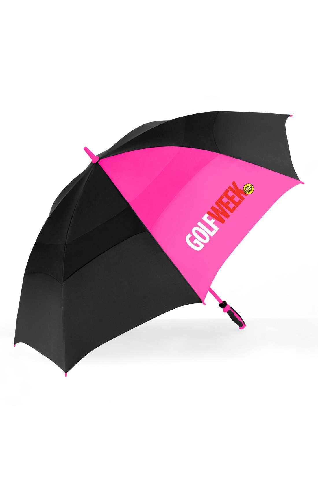 'WindJammer<sup>®</sup>' Golf Umbrella,                             Alternate thumbnail 3, color,                             Black/ Pink