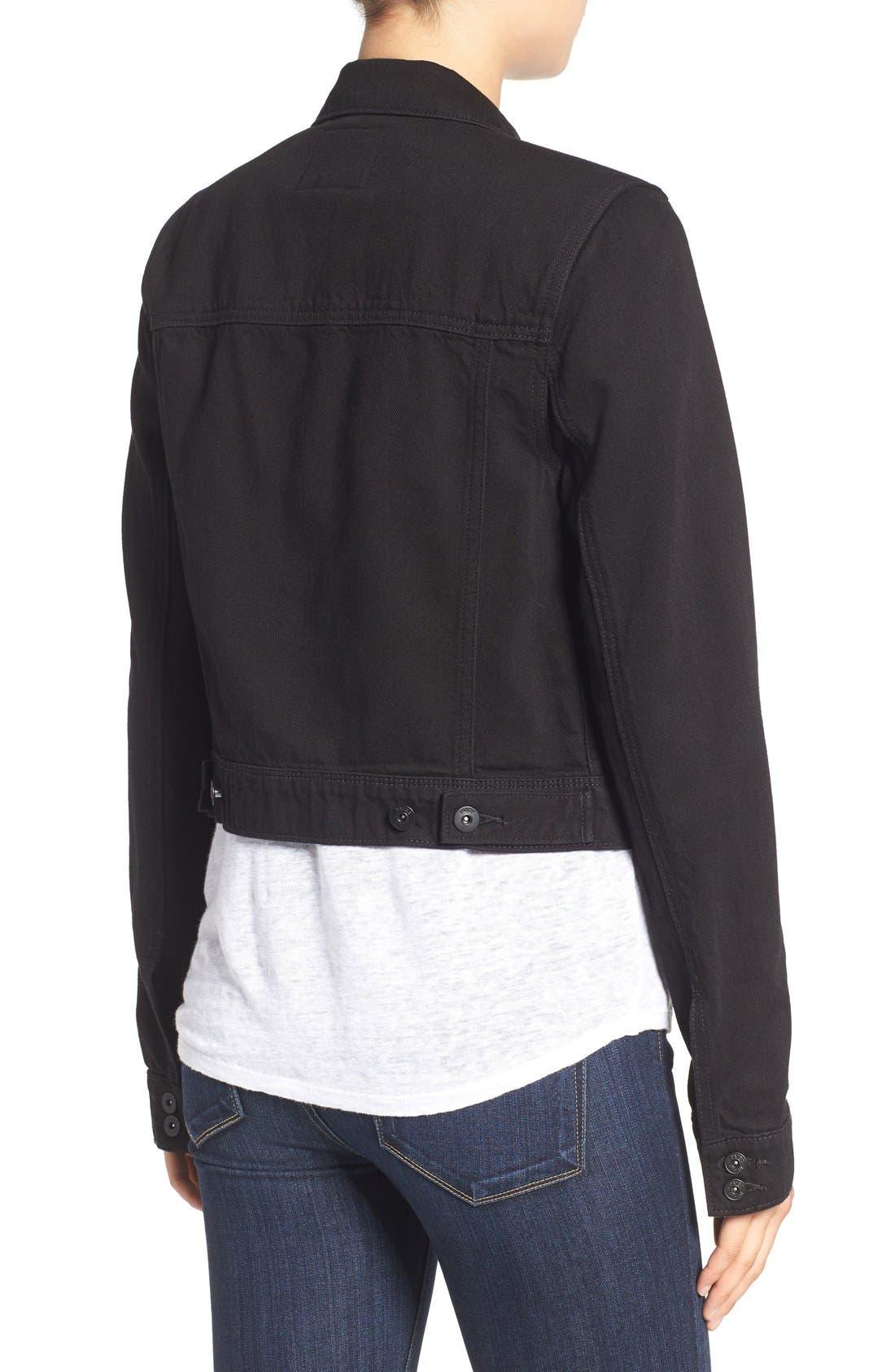 'Vivienne' Denim Jacket,                             Alternate thumbnail 2, color,                             Black Hawk