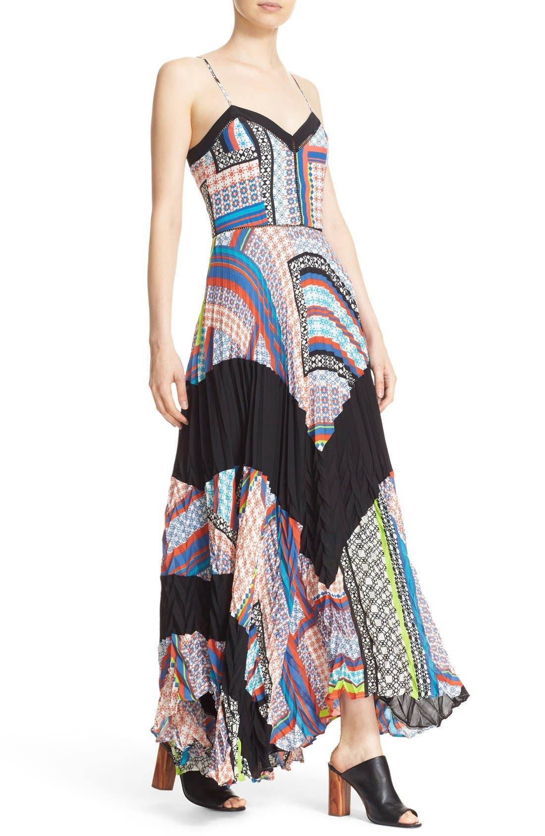 Alternate Image 4  - Parker 'Skye' Mixed Print Silk Maxi Dress