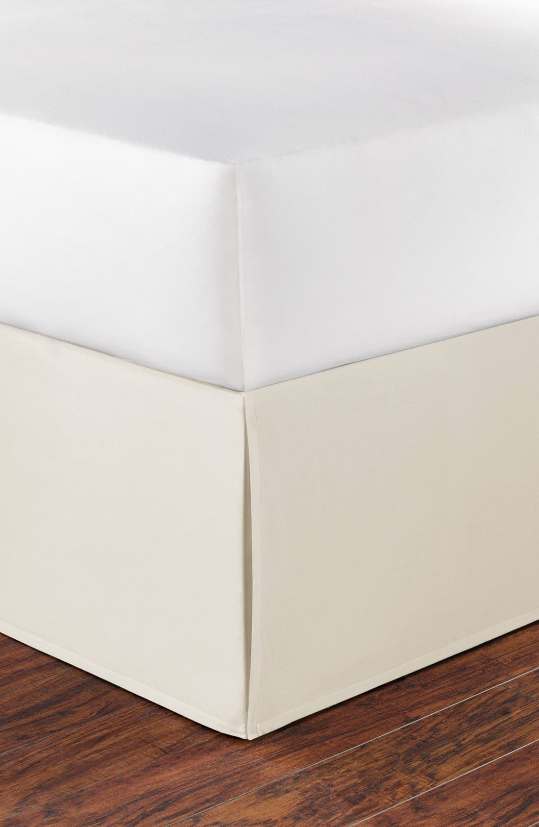 Cotton Bed Skirt,                         Main,                         color, Ivory