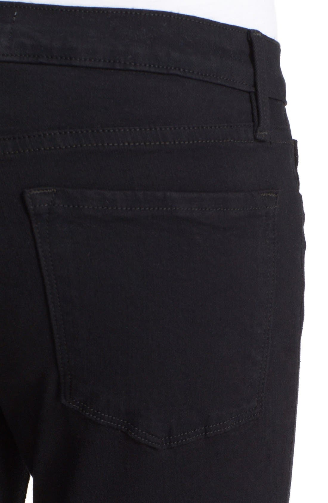 'Le Skinny de Jeanne' Ripped Jeans,                             Alternate thumbnail 4, color,                             Noir Jefferson