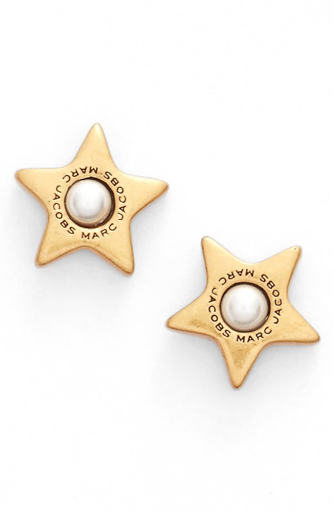 Alternate Image 1 Selected - MARC JACOBS Imitation Pearl Stud Earrings