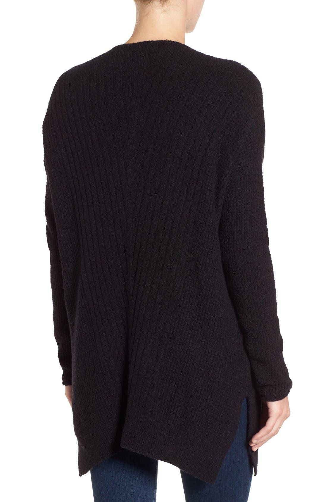 Alternate Image 2  - Caslon® Long Shark Bite Hem Sweater (Regular & Petite)