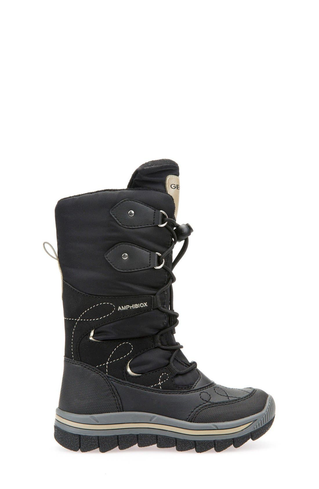 'Overland ABX' Waterproof Boot,                             Alternate thumbnail 7, color,                             Black/ Gold