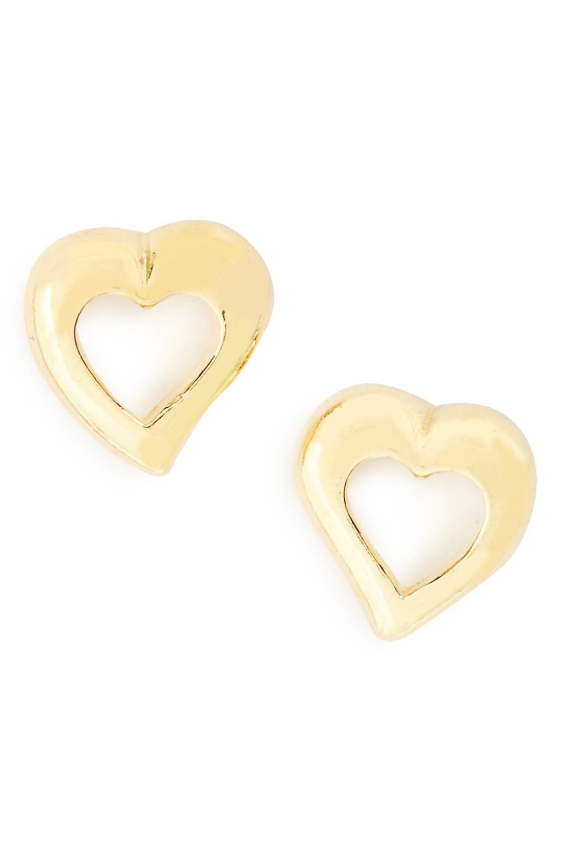 Alternate Image 1 Selected - Tomas Sterling Silver Heart Earrings (Girls)