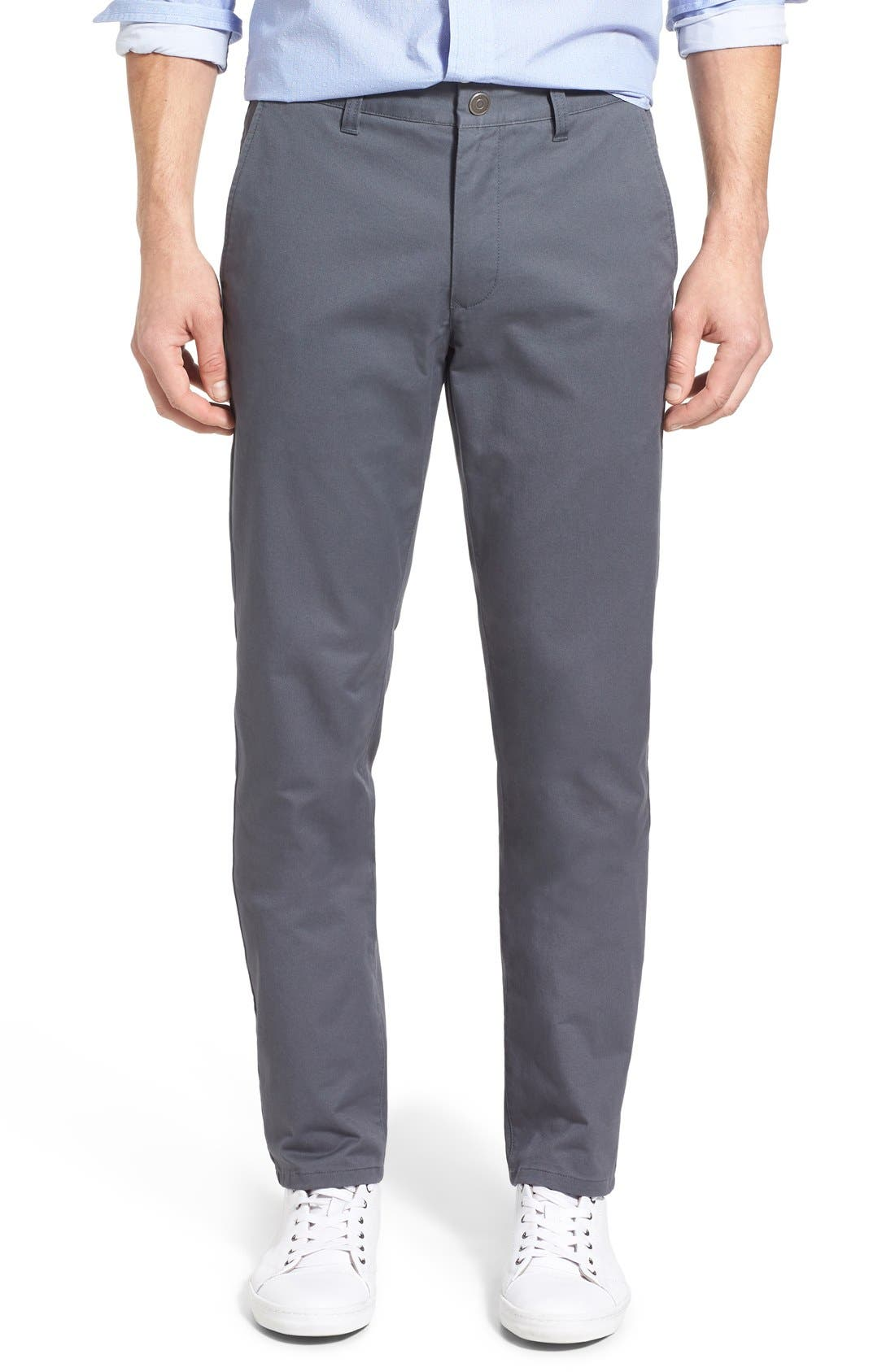 Slim Fit Stretch Washed Chinos,                         Main,                         color, Slate