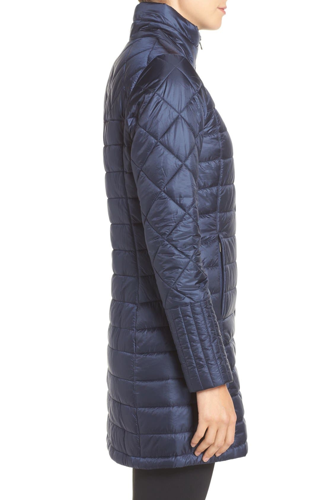 'Radalie' Water Repellent Parka,                             Alternate thumbnail 3, color,                             Navy Blue