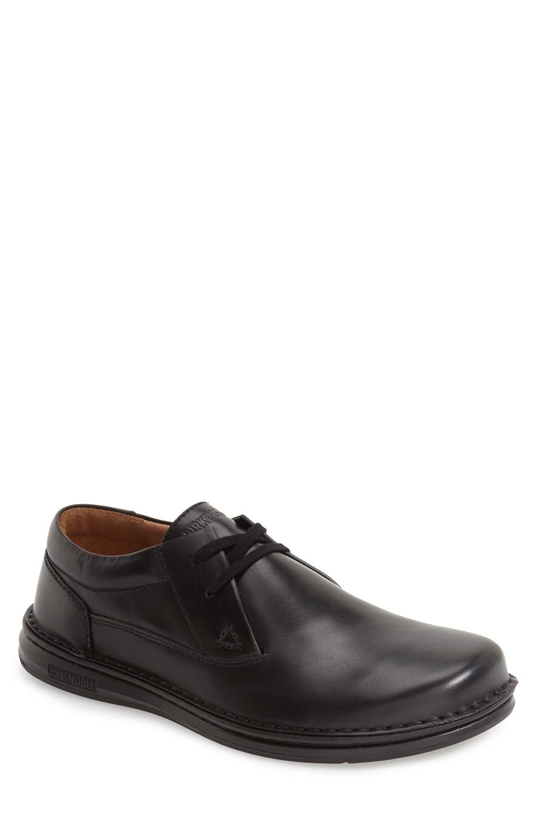 'Memphis' Oxford,                         Main,                         color, Black Leather
