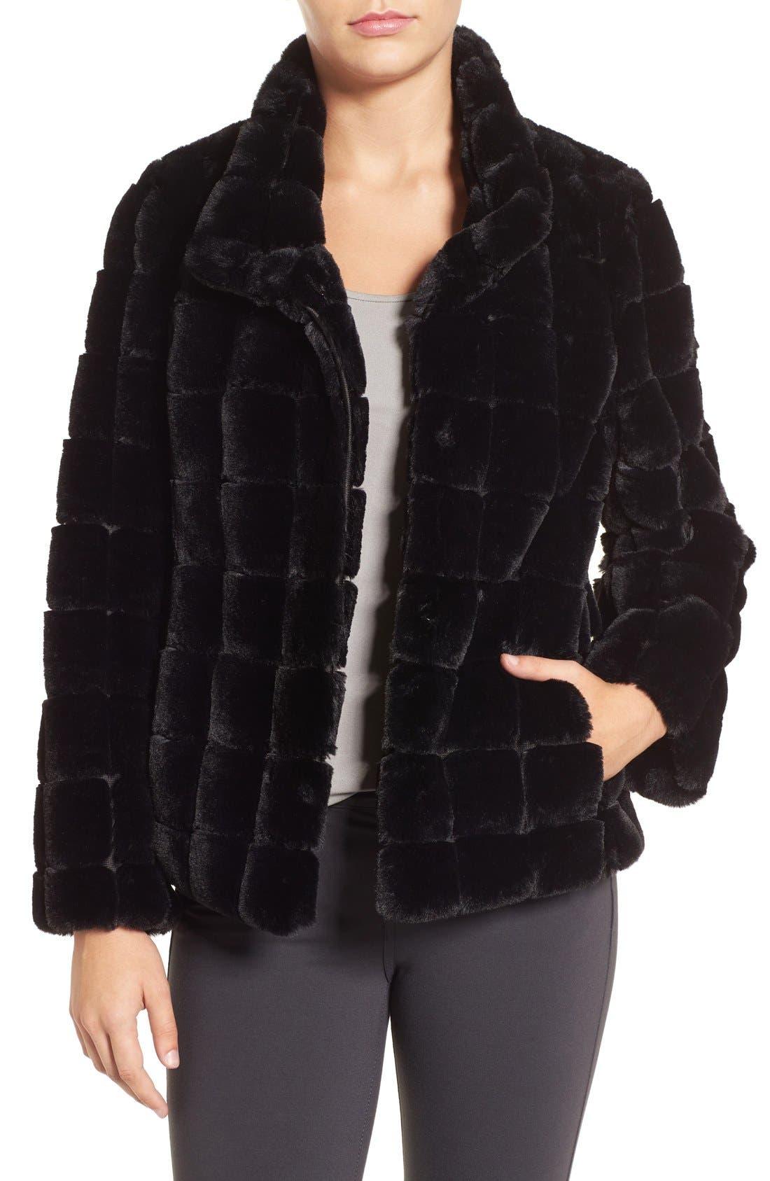 Alternate Image 1 Selected - Kristen Blake Faux Fur Jacket