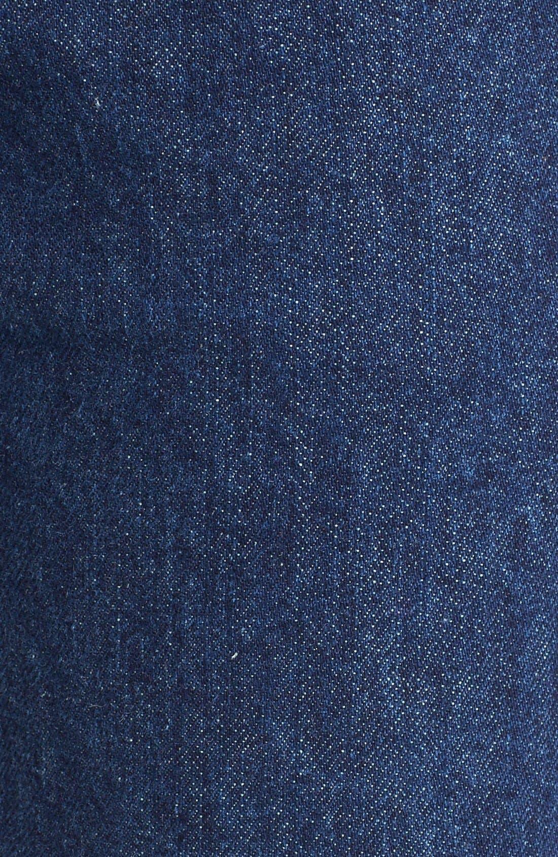 Originals High Waist Crop Jeans,                             Alternate thumbnail 5, color,                             Dark