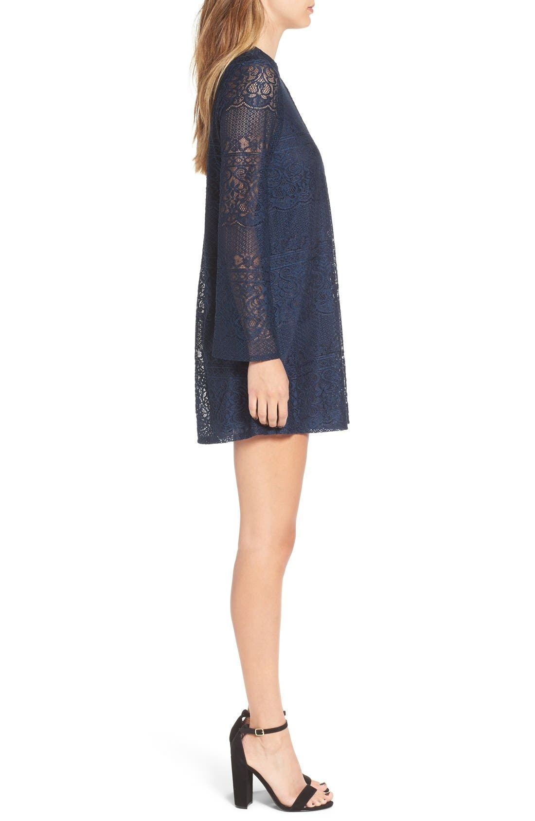 Alternate Image 3  - Speechless Bell Sleeve Lace Shift Dress