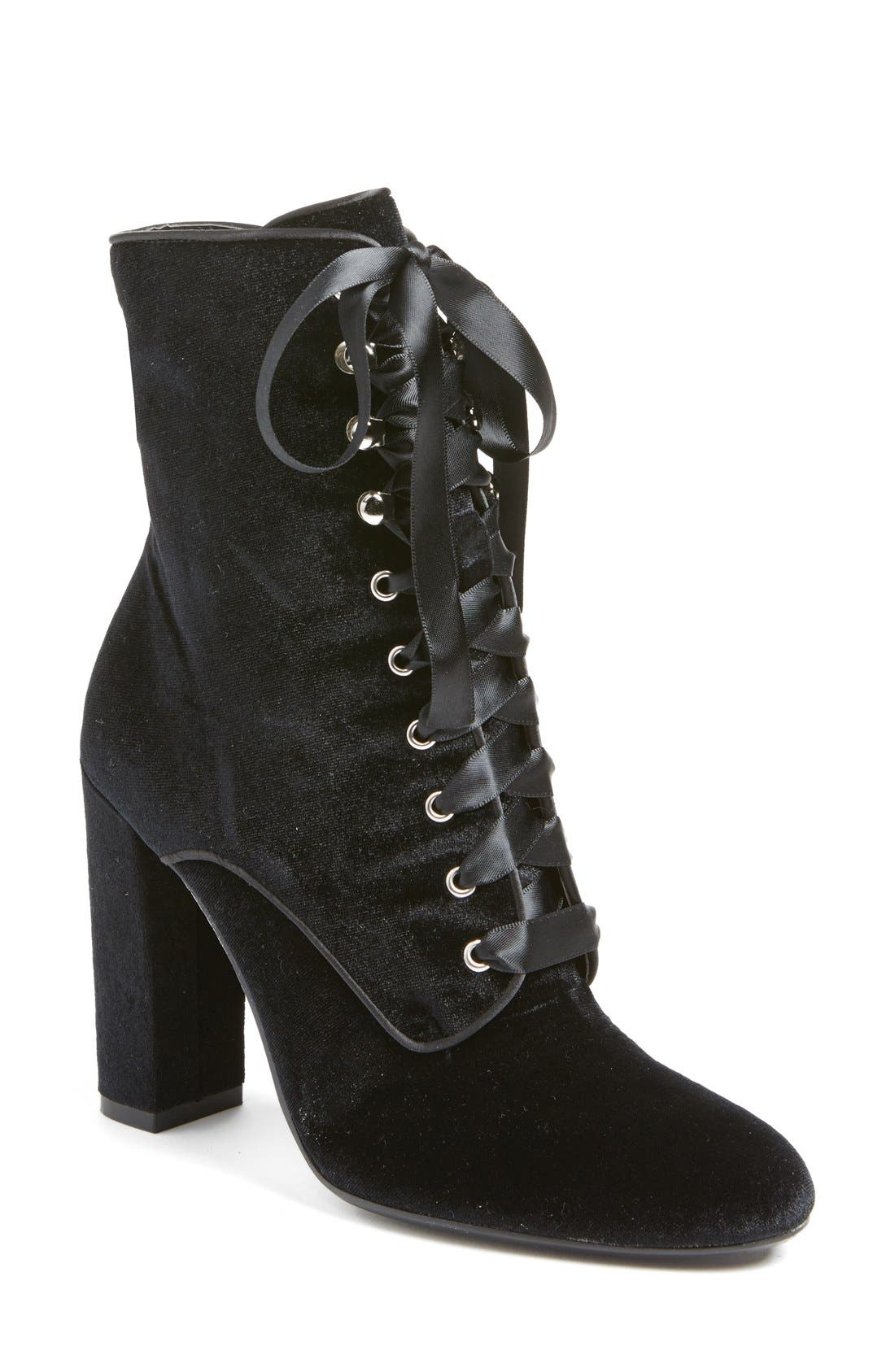 Alternate Image 1 Selected - Steve Madden 'Evolved' Lace-Up Bootie (Women)