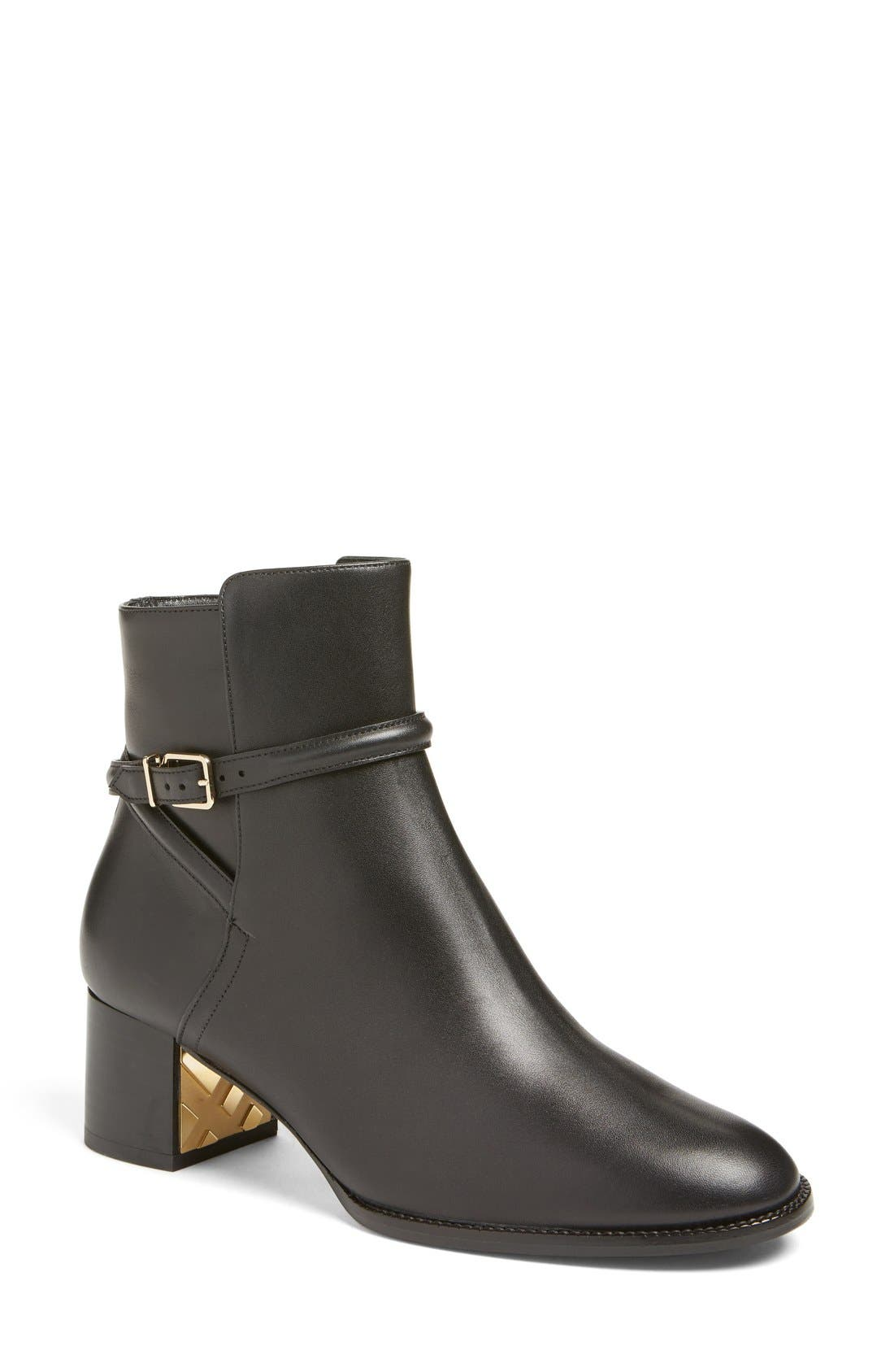 Alternate Image 1 Selected - Burberry 'Shola' Block Heel Bootie (Women)