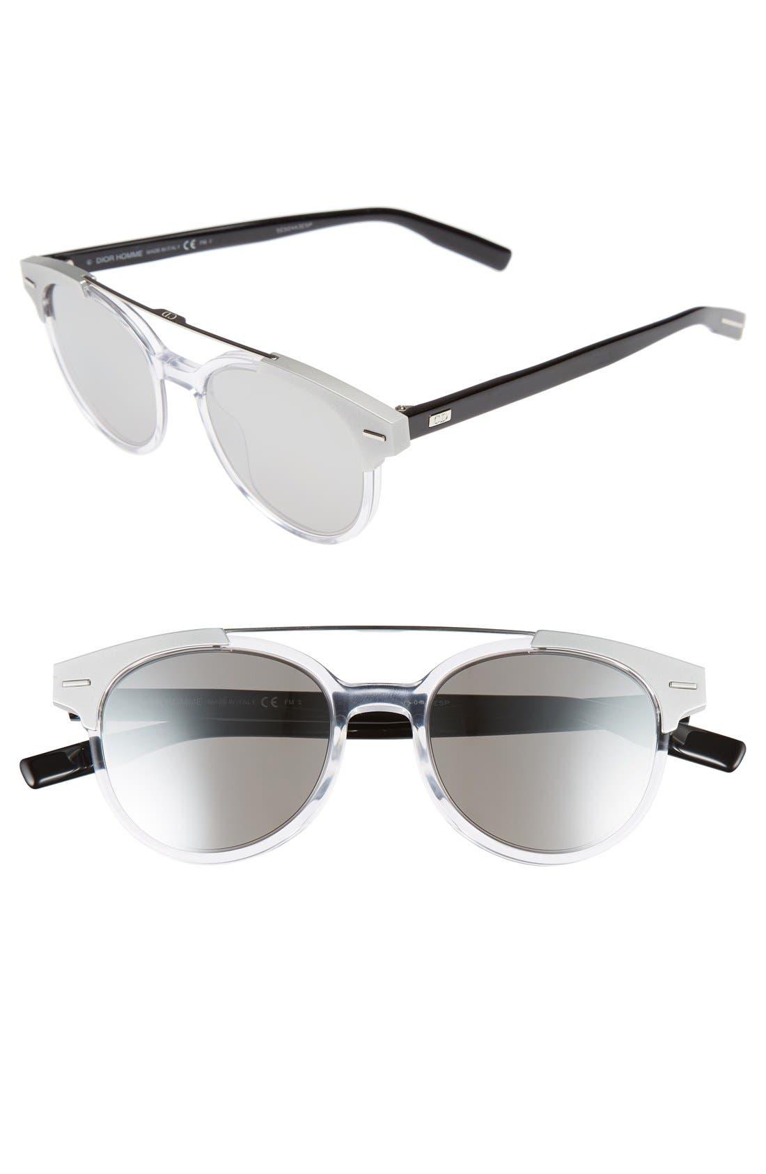 Dior 'Black Tie' 51mm Sunglasses,                             Main thumbnail 1, color,                             Crystal Black