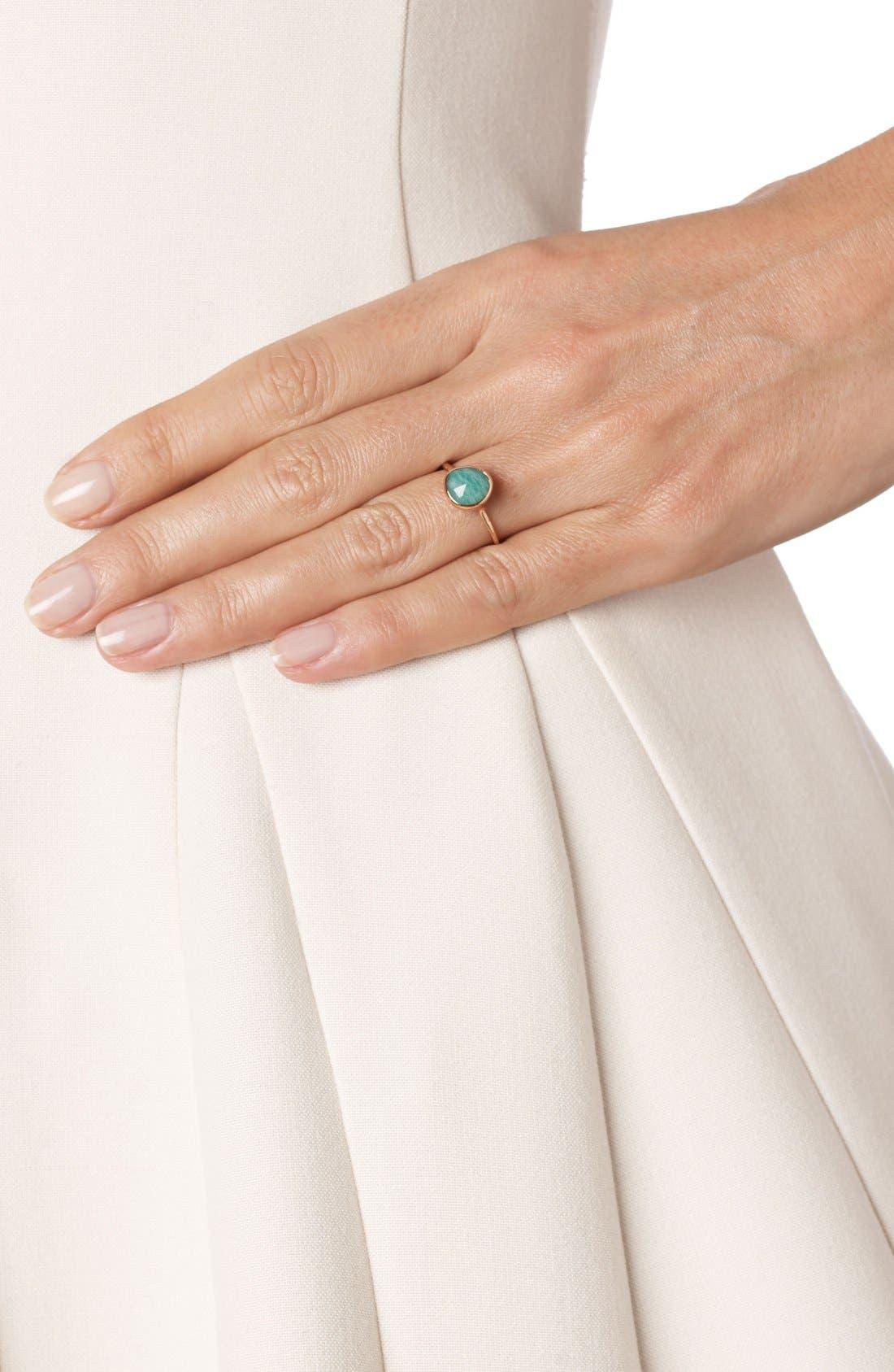 Siren Semiprecious Stone Stacking Ring,                             Alternate thumbnail 2, color,                             Rose Gold/ Amazonite