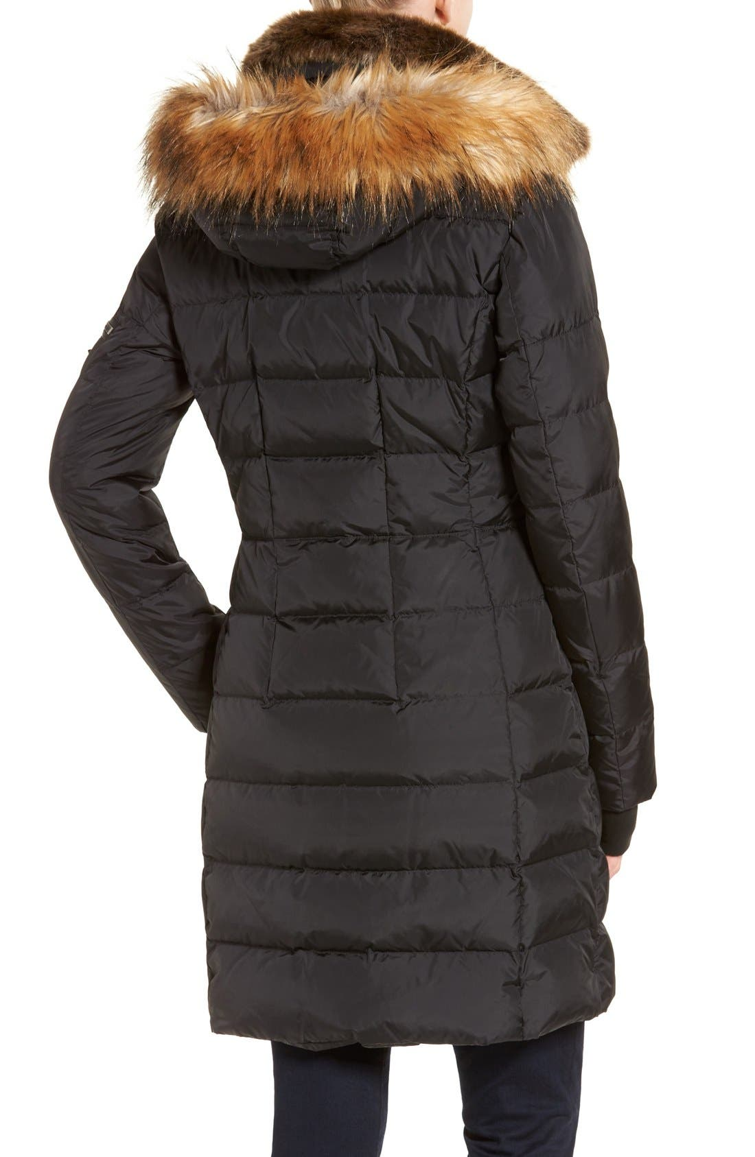 Alternate Image 2  - S13 'Uptown' Quilted Coat with Faux Fur Trim