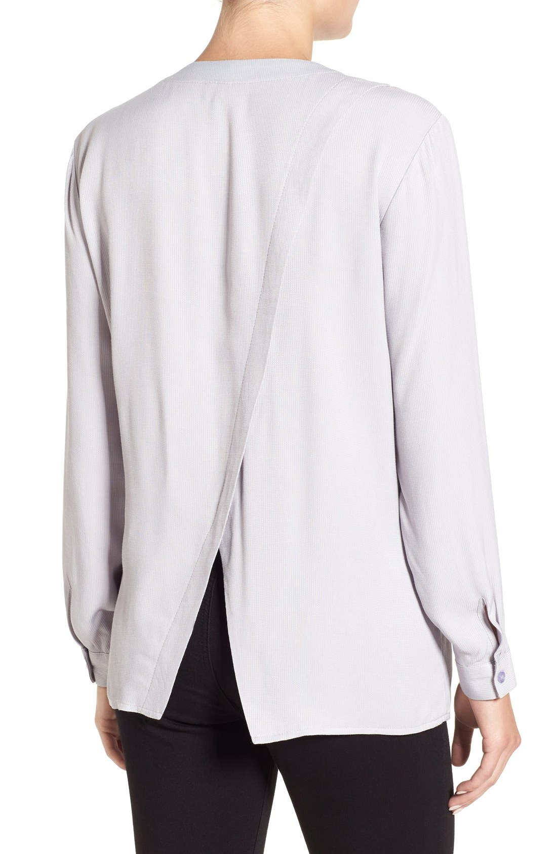 Alternate Image 3  - Topshop Wrap Back Long Sleeve Blouse