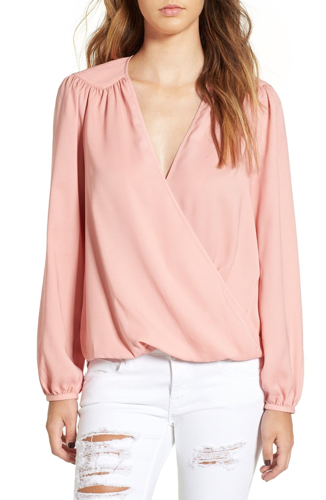 Alternate Image 1 Selected - Leith Wrap Front Blouse