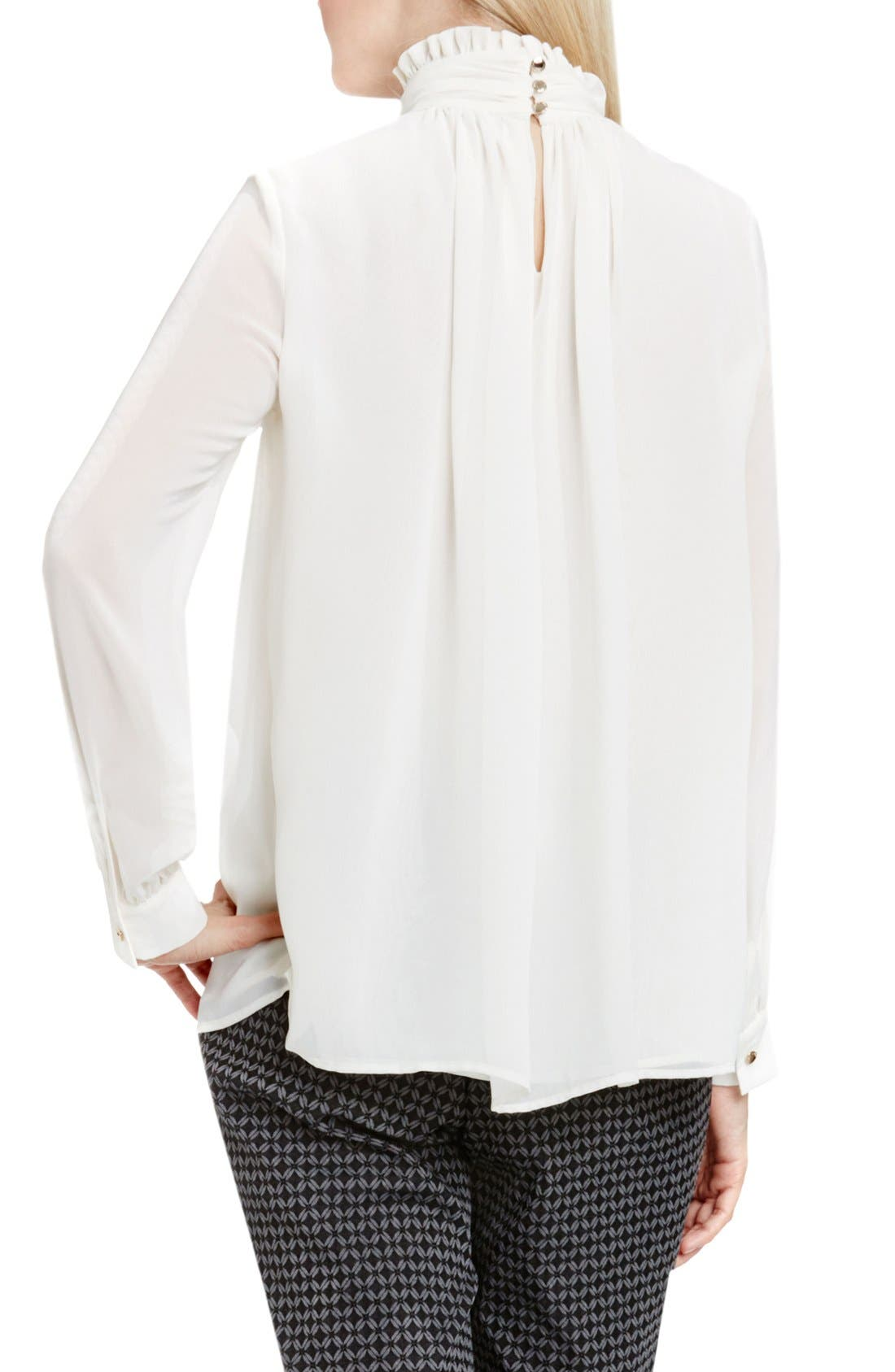 Alternate Image 3  - Vince Camuto Ruffle Collar Blouse (Regular & Petite)
