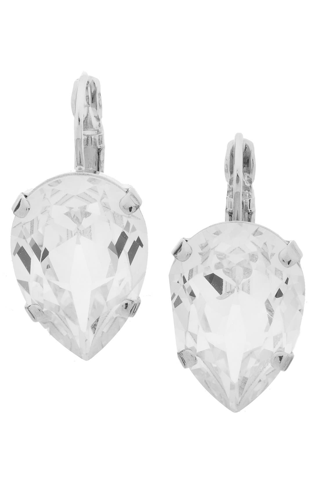 Alternate Image 1 Selected - L. Erickson 'Scarlett' Teardrop Earrings