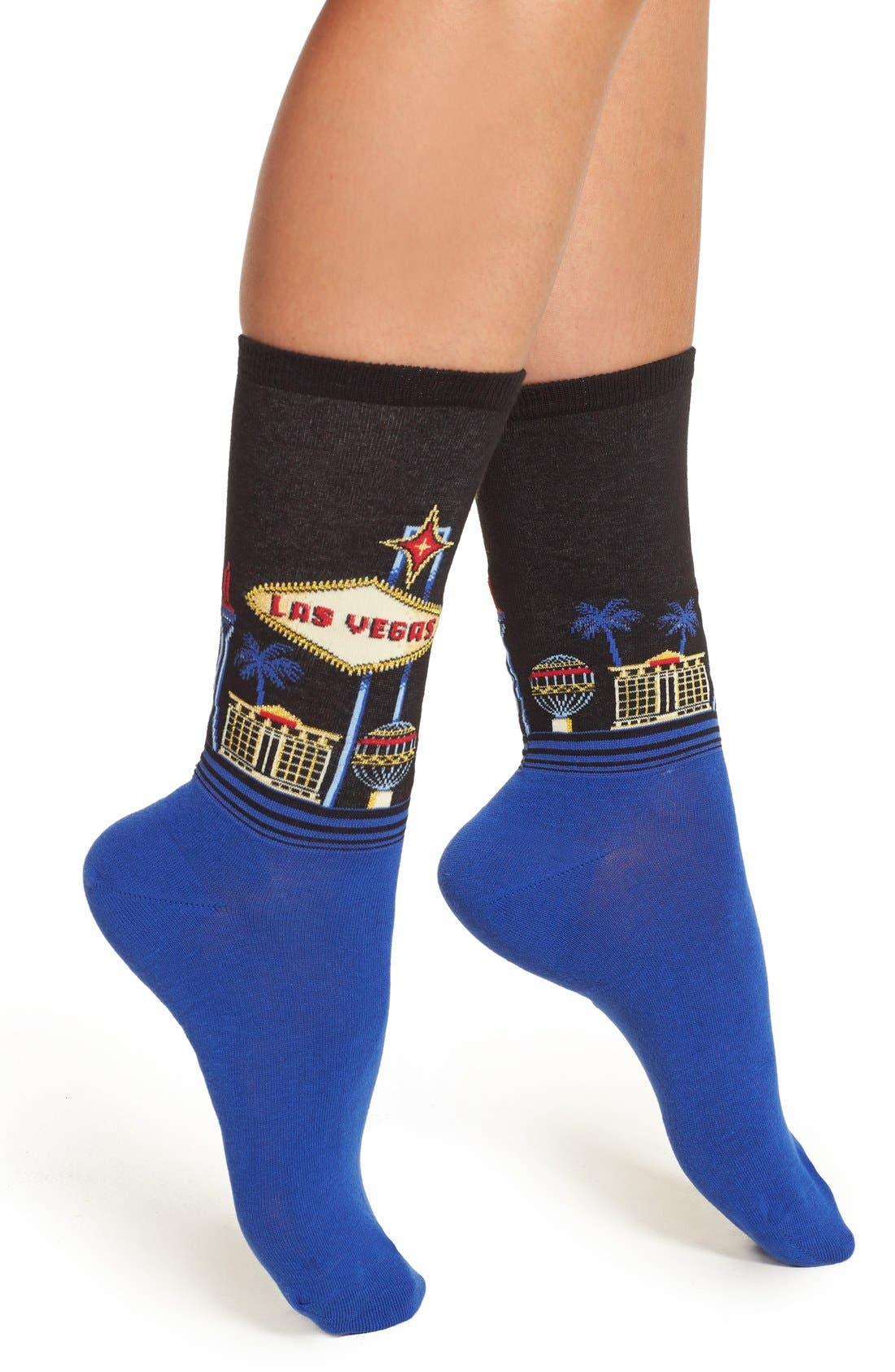 Hot Sox Las Vegas Crew Socks