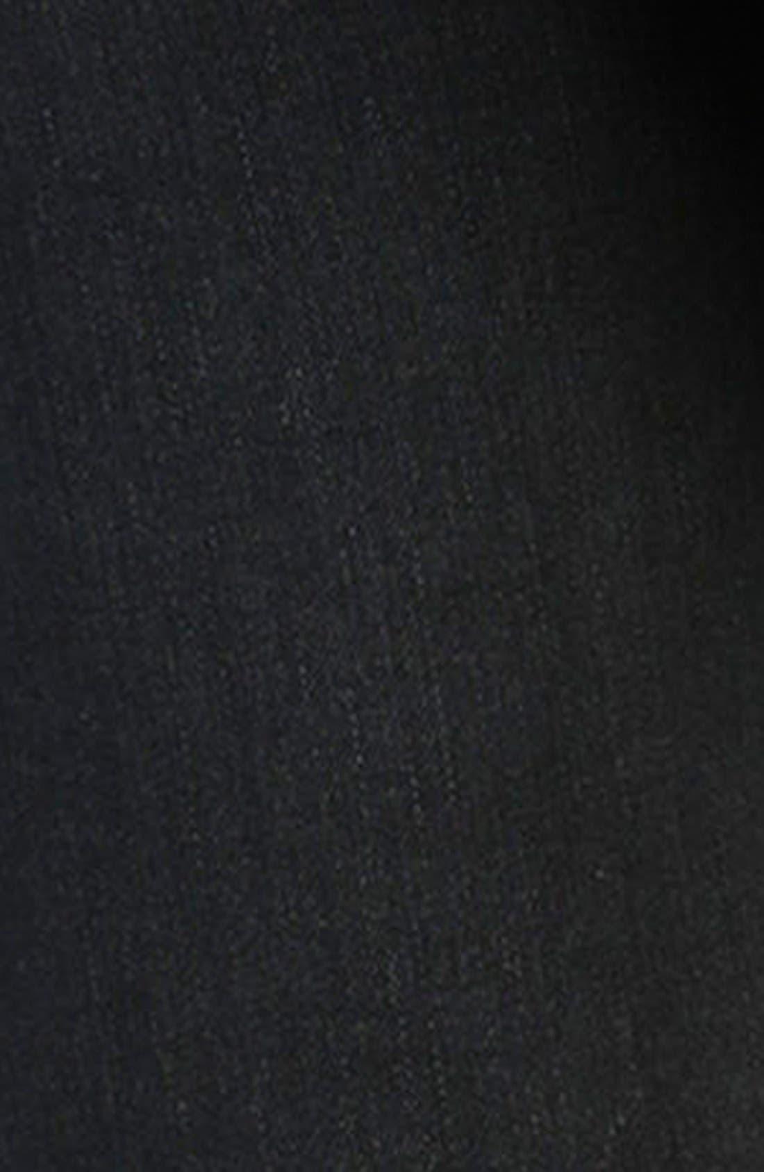 'Transcend - Jane' Zip Detail Crop Skinny Jeans,                             Alternate thumbnail 5, color,                             Smoke Grey