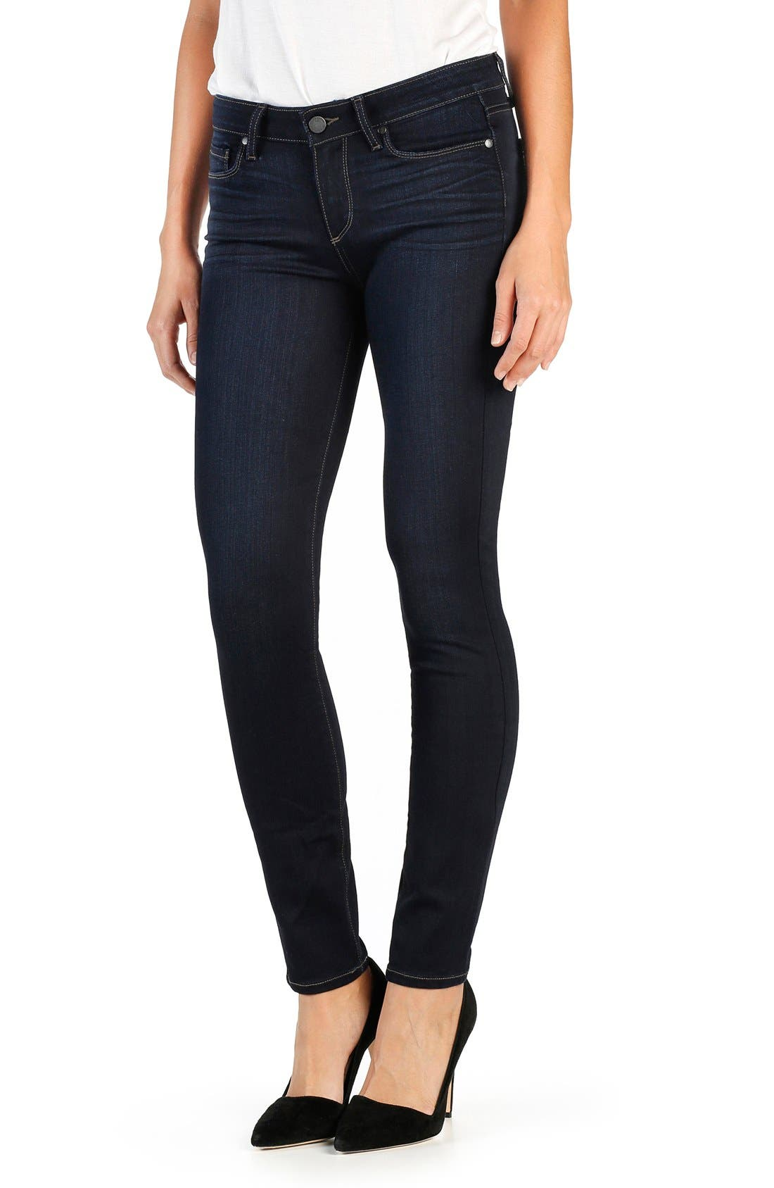 Transcend Verdugo Ankle Ultra Skinny Jeans,                             Alternate thumbnail 3, color,                             Ellora