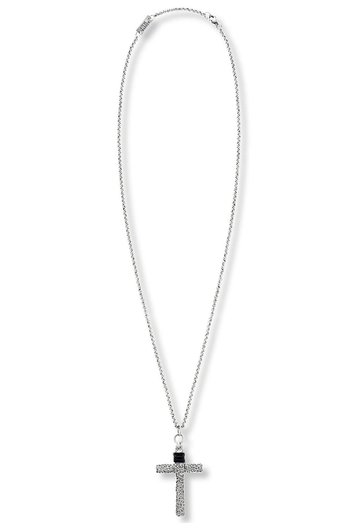 Alternate Image 1 Selected - Steve Madden Cross Pendant Necklace