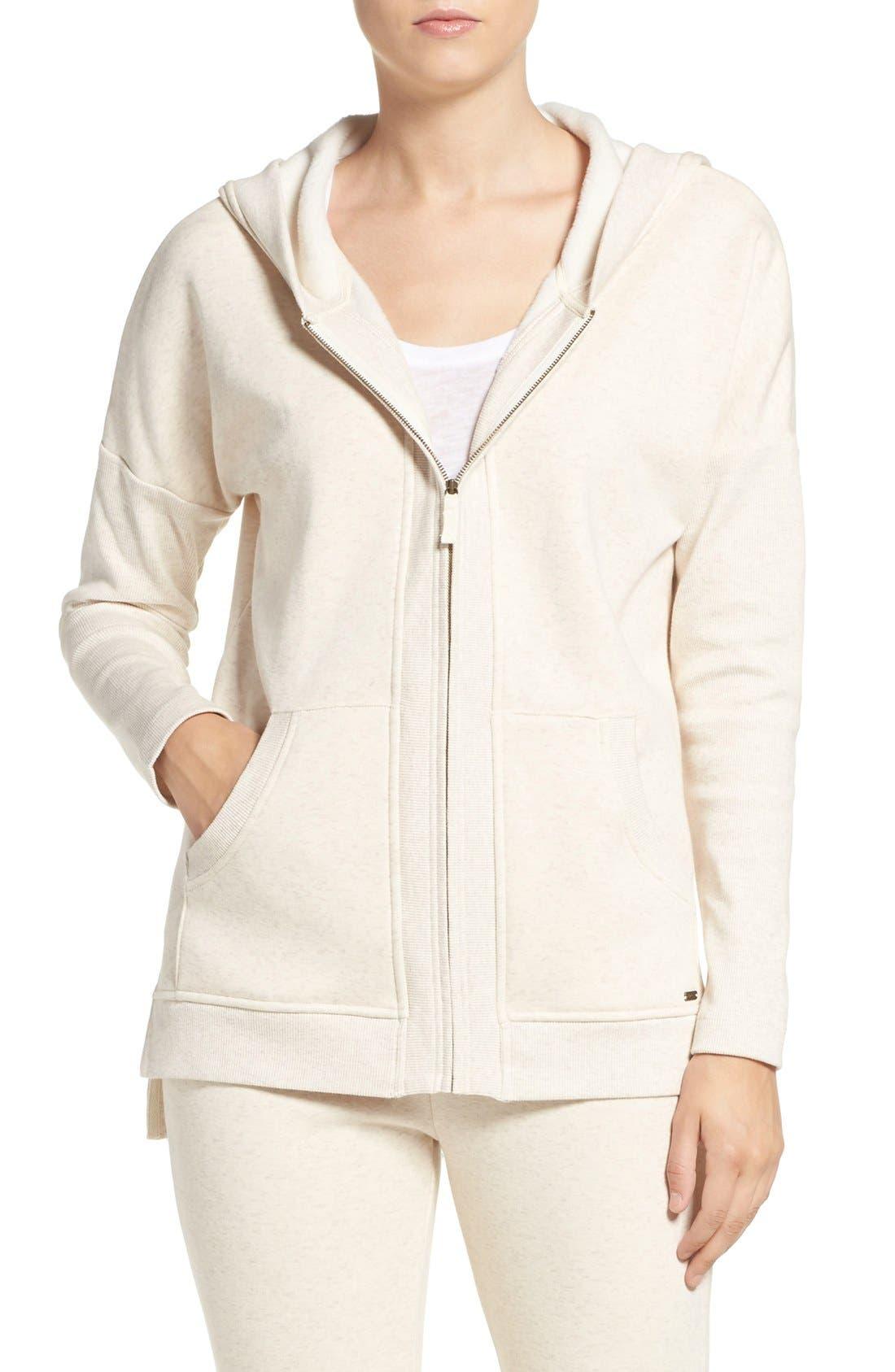 Main Image - UGG® 'Mavis' Stretch Cotton Zip-Up Hoodie